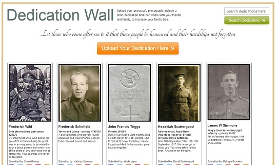 Forces War Record dedication wall